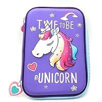 FunBlast Multipurpose Zipper Pencil Case, Pen & Pencil Pouch Bag Case for School Supplies for Kids (Unicorn_Pouch)