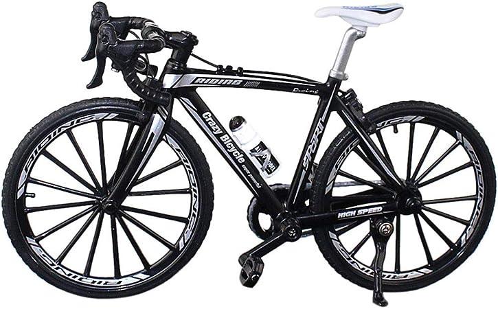 Ganquer Coleccion Decoración Diecast Juguetes Mini Bend Bicicleta Modelo Carreras Bici Montaña Bicicleta - Negro, Free Size: Amazon.es: Hogar
