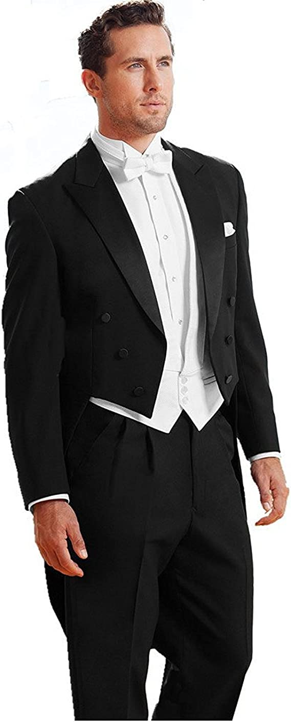 mys Men de Custom Made Classic Pico Boda FRAC Traje Pants Chaleco ...