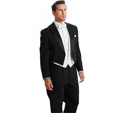 My S Men S Custom Made Classic Peak Wedding Tailcoat Suit Pants Vest