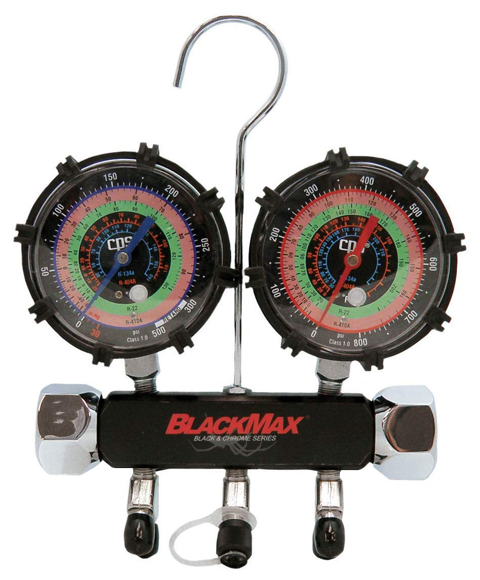 CPS MBH5P5Z Blackmax Triple Seal 2 Valve Manifold, with 5' Premium Hoses
