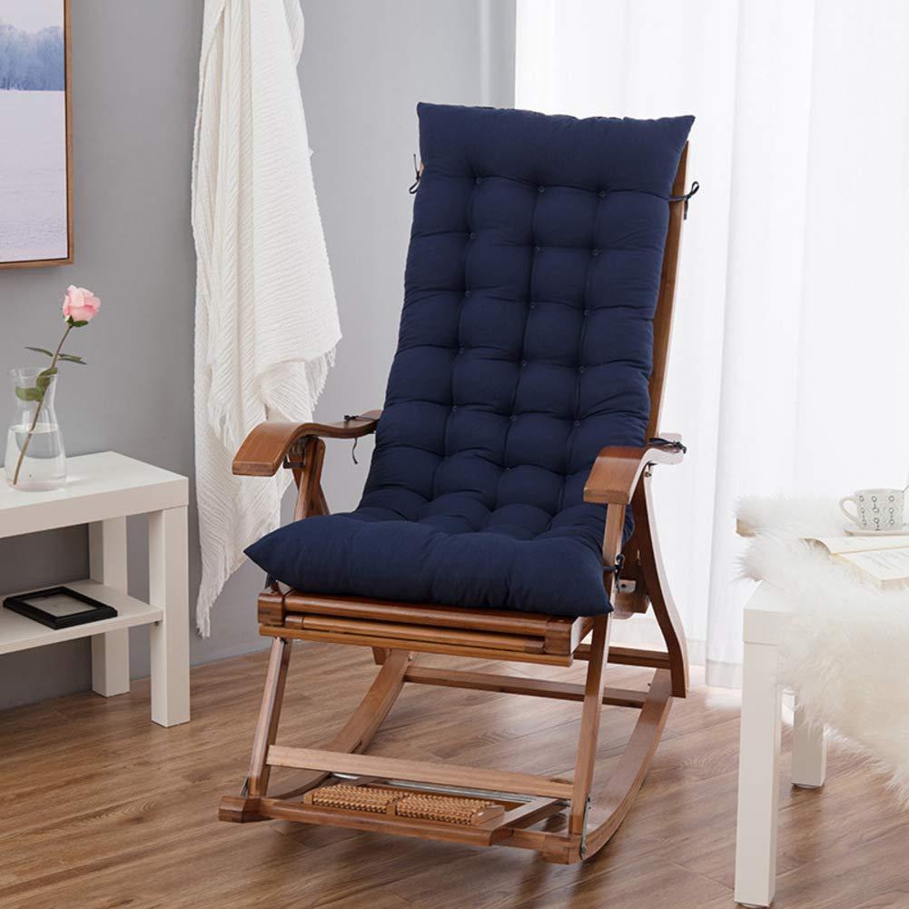 ZGYQGOO Lounge Chair Kissen, Terrasse Chaise Lounge Kissen, Volltonfarbe Matratze für Garten Outdoor Indoor Sonnenliege Kissen (nur Kissen) -Navy 125 * 50 * 8cm (49x20x3inch)