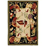 Safavieh Chelsea Collection HK94A Hand-Hooked Ivory and Black Premium Wool Area Rug (2'9' x 4'9')