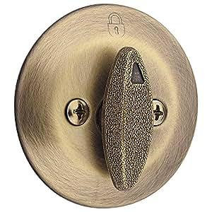 Kwikset 663 Single-Sided Deadbolt in Antique Brass