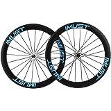 IMUST  700C Carbone Roue de Vélo route 56mm Clincher Tubeless Ready Novatec Hub Shimano 10/11 Vitesses