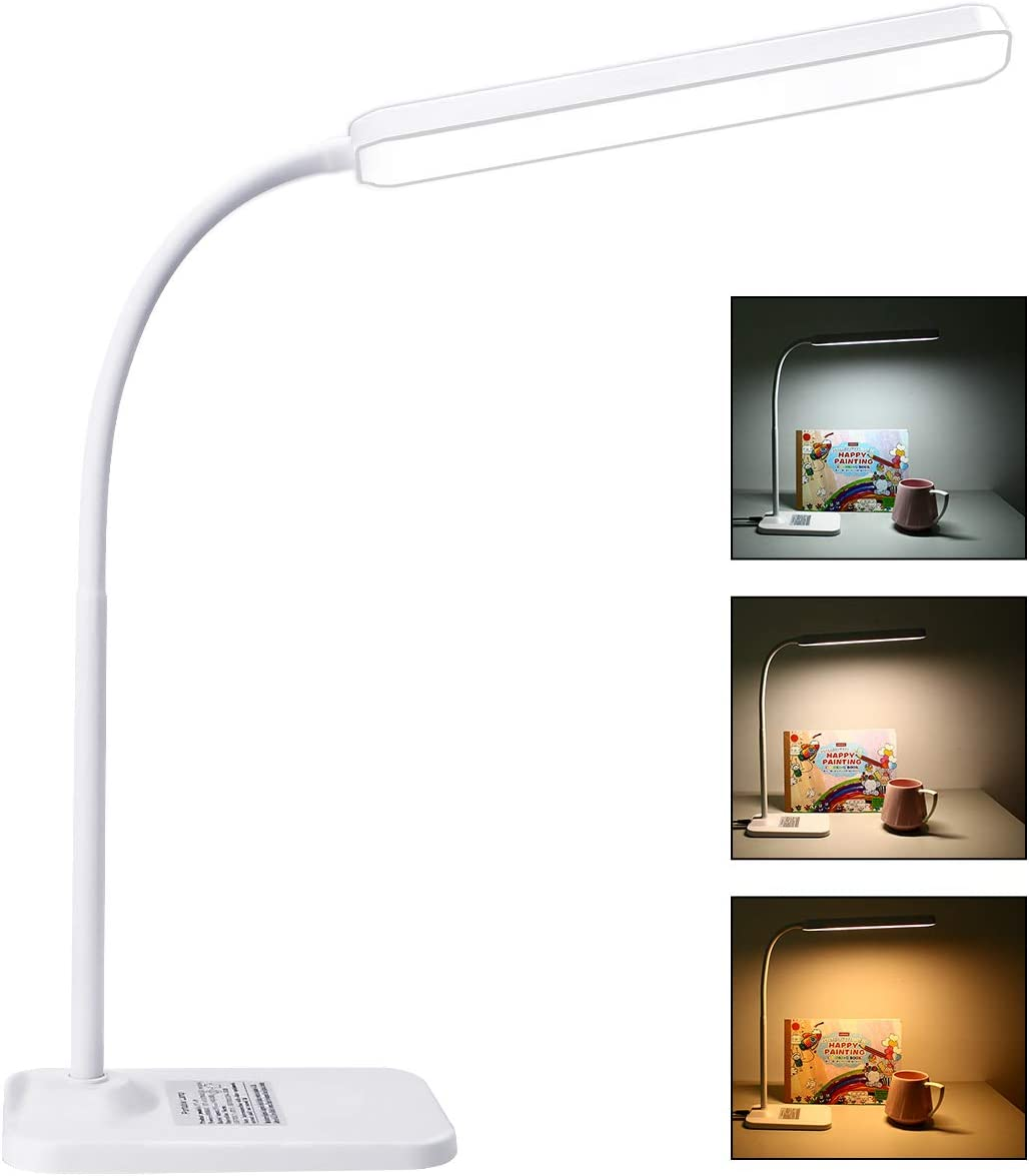 Desk Lamp, 3 Light Modes with Dimmable