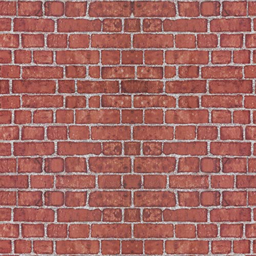 Coavas Red-Brick-Wallpaper, 17.7x196.9 Inch Wallpaper Self-Adhesive with Good Home Decoration Faux Brick Printed Stick Paper Easy to Stick and ()