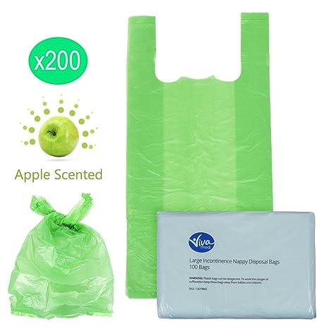Bolsas para pañales, desecho de Incontinencia (paquete de 100/200/