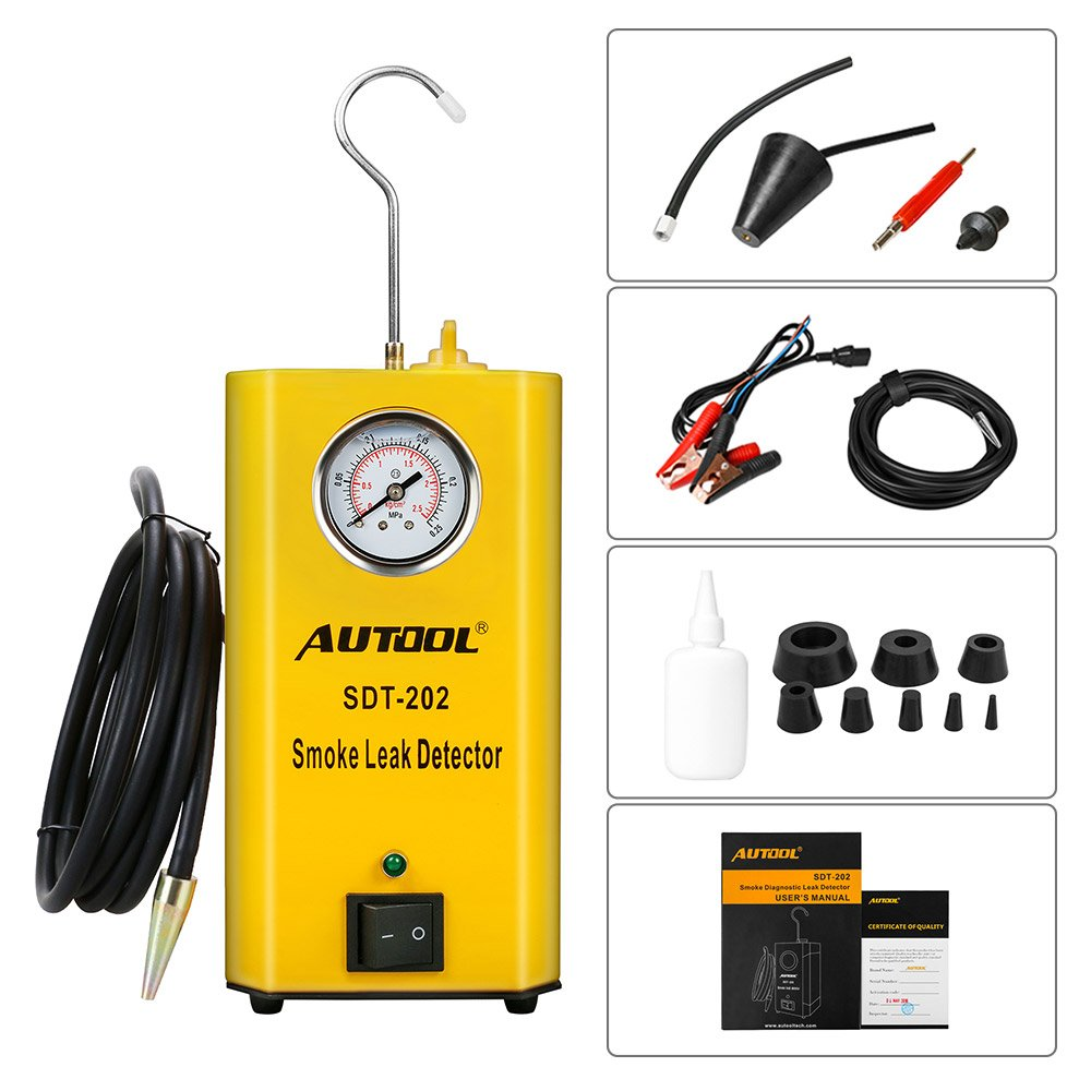 Autool 12V Automotive EVAP Tester Detectors Cars Pipe Leak Detector SDT-202 Car PIPE Leakage Detector Tester For All Vehicles Leak Tester Detector Machine