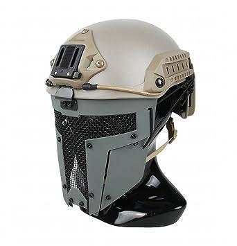 GZZ Máscara Táctica Espartana Máscara de Casco AF Máscara Protectora Táctica Exterior,Segundo,Un