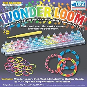 Amazon Com Wonder Loom Rubber Band Bracelet Kit With Free