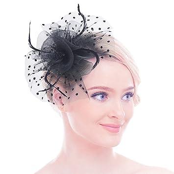 toujours populaire marque célèbre vente chaude pas cher Petit Chapeau Voilette Avec Plume Pour Mariage Chapeau Bibi ...