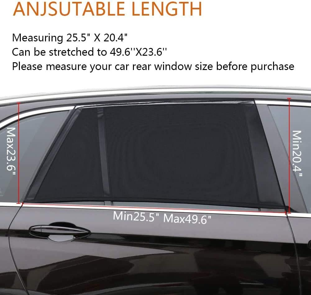 Protects from Sun Burn Heats and UV Rays Car Sun Shade for Side Window TDTOK Universal Car Window Sun Shade Rear Side 2 Pack Regular Rear Side Window