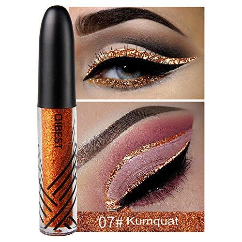 13 Shades Eyeliner Metallic Shiny Smoky Eyes Eyeshadow Waterproof Glitter Liquid Beauty Eyeliner (7#)