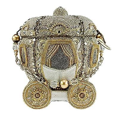 MARY FRANCES Before Midnight Beaded Bejeweled Cinderella Carriage Coach Purse Handbag