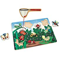 Melissa & Doug Magnetic Wooden Bug-Catching Puzzle Game (10 pcs)