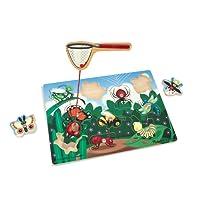 Melissa & Doug Magnetic Wooden Bug-Catching Puzzle Game (10 pcs)