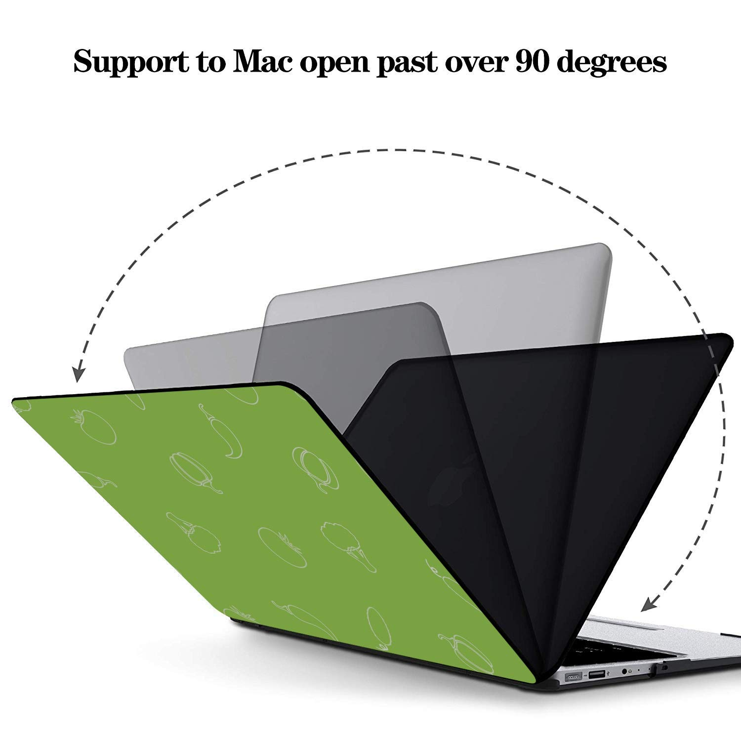 Mac Laptop Cover Summer Small Fruit Vegetable Tomato Plastic Hard Shell Compatible Mac Air 11 Pro 13 15 MacBook Accessories Protection for MacBook 2016-2019 Version