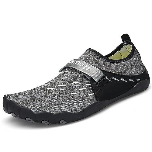 41c7ef560f1537 ZOEASHLEY Herren Damen Wandern Barfußschuhe Trekking Schuhe Sommer  Ultraleicht Outdoor Fitnessschuhe mit rutschfest Weiche Sohle Gr.36-46