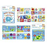 Baby Bath Books Plastic Coated Fun Educational Learning Toys for Toddlers & Kids (Splash Sea)