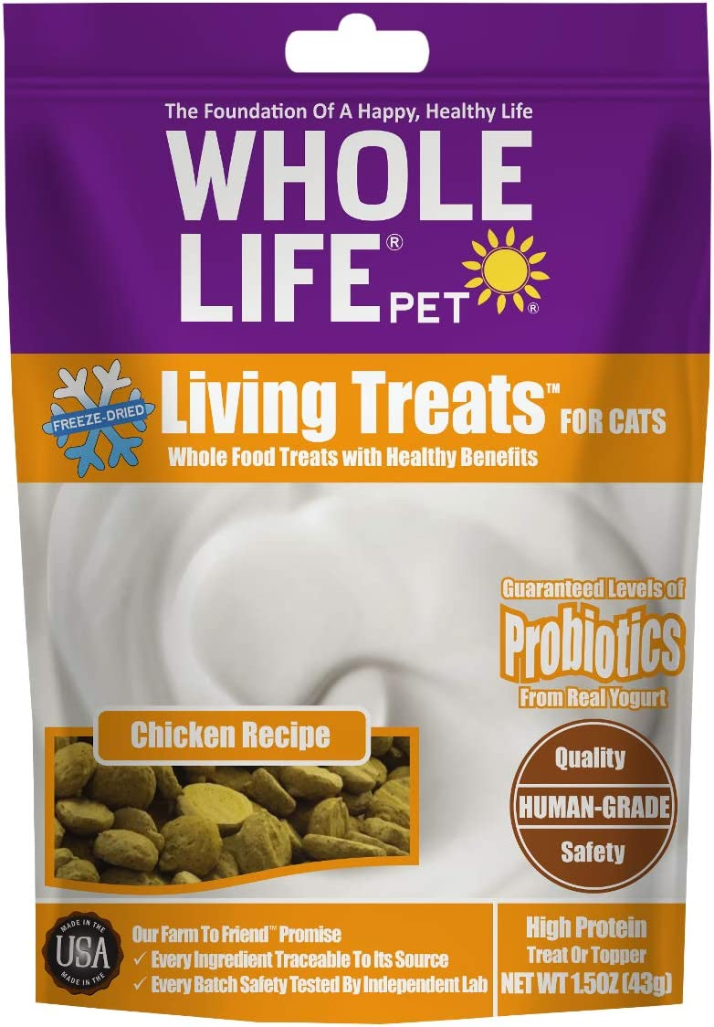 Whole Life Pet Living Treats for Cats Blended with Probiotics to Promote Healthy Digestion