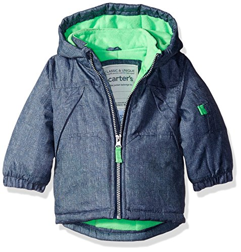 Infant Heavyweight Active Texture Jacket, Navy, 12M (Carters Toddler Boys Pull)