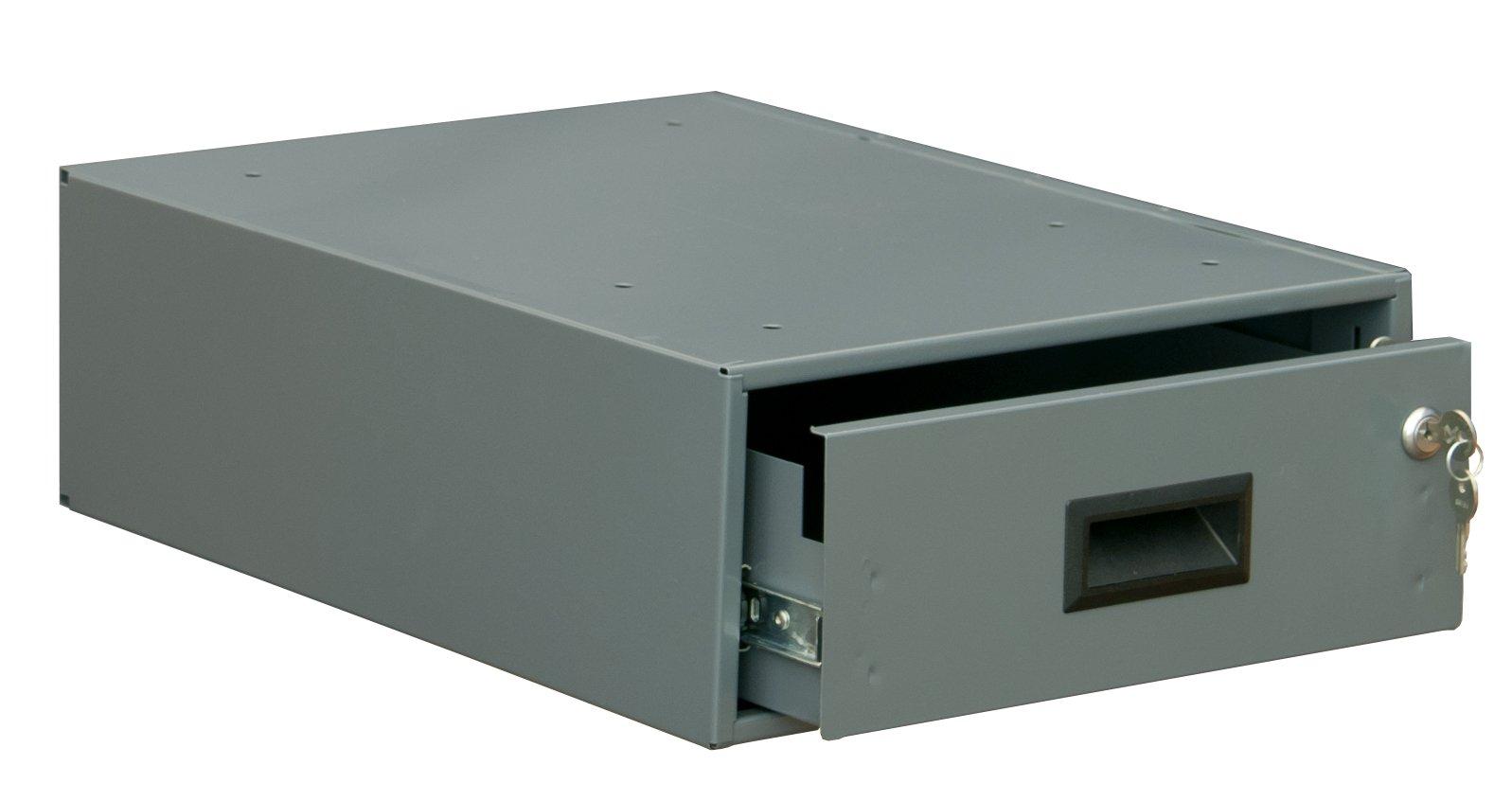 Durham 177-DRAWER-95 Gray Steel Optional Workbench Drawer, 12-1/2'' Width x 4-3/4'' Height x 18-1/2'' Depth