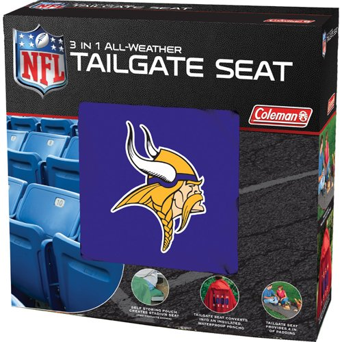 NFL Vikings 3 in 1 Tailgate Seat (Sports Tailgate Seat)