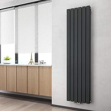 Vertikal Heizk/örper Design Paneelheizk/örper 1800x460mm Anthrazit Doppellagig Mittelanschluss Heizung