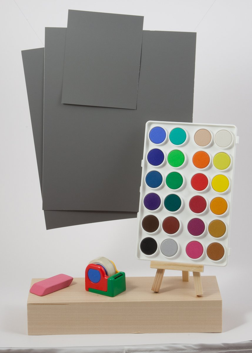 DGK Color Tools R-27, 18% Gray White Balance and Exposure Control Card Set, (Set of Three Cards, Two 8x10'' and One 4x5'')