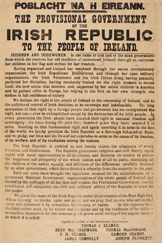 Create A Canvas 1916 Proclamation of The Irish Republic - Reproduction 20
