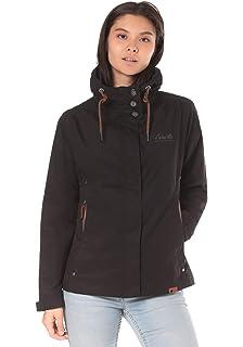 Lakeville Mountain Damen-Jacke ORA   Übergangs-Jacke mit Kapuze und  modischen Applikationen 42039f1901