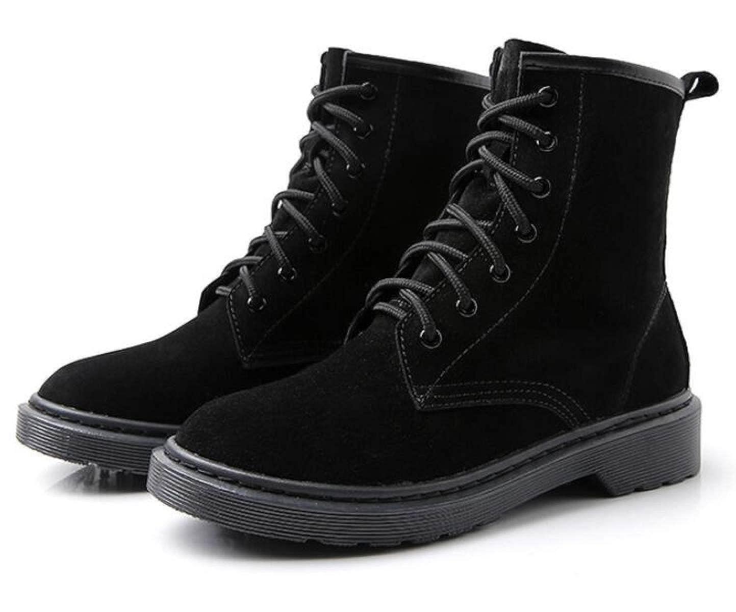 Herbst Und Und Herbst Winter Leder England Martin Stiefel Mode Spitze Hoch Zu Helfen Schuhe schwarzplusvelvet 7a1c1f