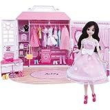 芭比娃娃安丽莉女孩玩具梦幻衣橱间换装洋娃娃玩偶布偶 (甜美衣橱)