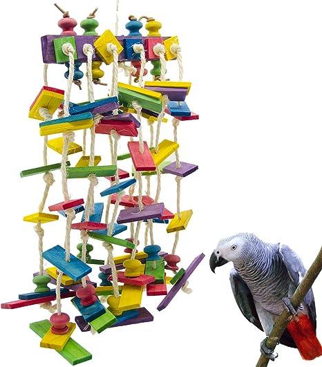 UEETEK Bird Toy Parrot Cage Toys for Macaw African Greys  Cockatoo Parakeet Cockatiels