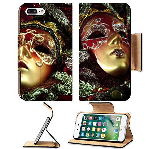 Best 2016 Couples Halloween Costumes (Liili Premium Apple iPhone 7 Plus Flip Pu Leather Wallet Case IMAGE ID: 4088939 ornate carnival masks over textured metallic background)