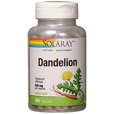 Solaray Dandelion Root Capsules, 520 mg, 180 Count