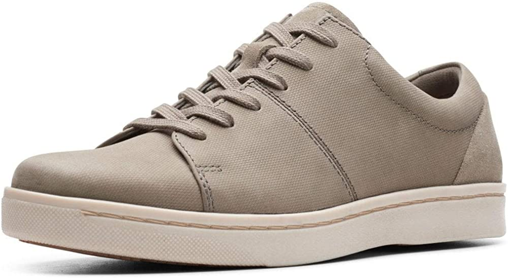 Sale special price Clarks Men's Kitna Latest item Vibe Low-Top Sage Beige Sag Nubuck Sneakers
