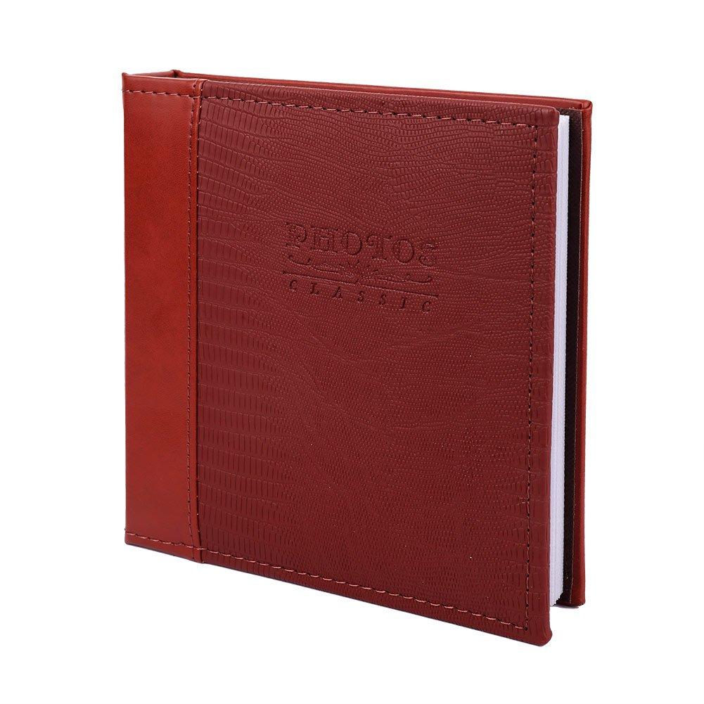 FaCraft Post Bound Photo Album 5x7 with Polyurethane Cover (80,Wine Red)