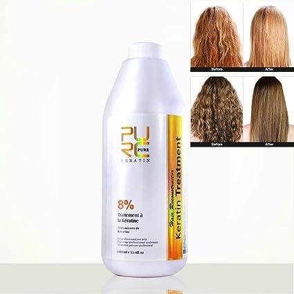 PURC Brazilian keratin hair treatment hair care 8% 1000ml