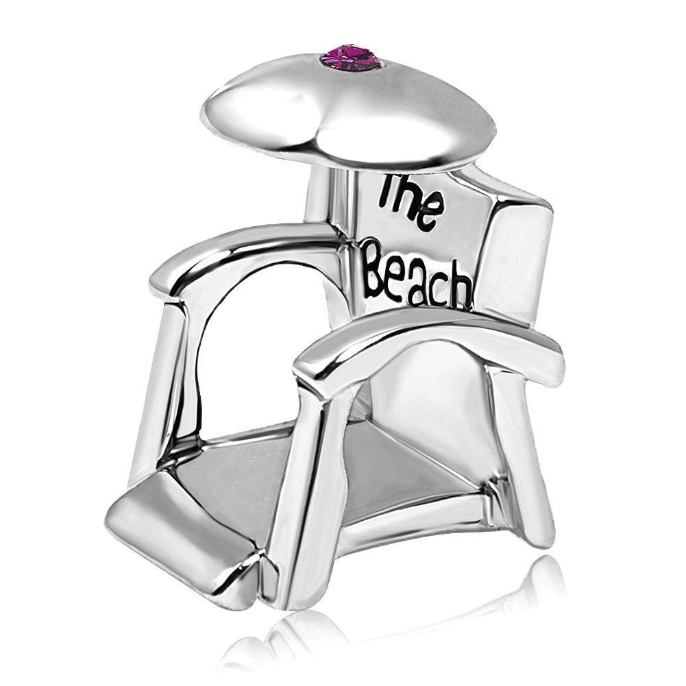 JMQJewelry Birthstone Holiday Beach Chair Sunshade Crystal Charms Beads Bracelets
