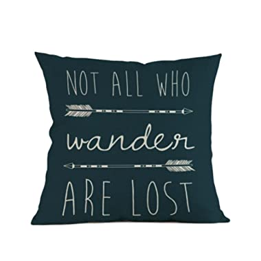 Pillow Case, Howstar Arrow Printing Sofa Cushion Cover Home Decoration Pillowcase 45x45 cm (C)