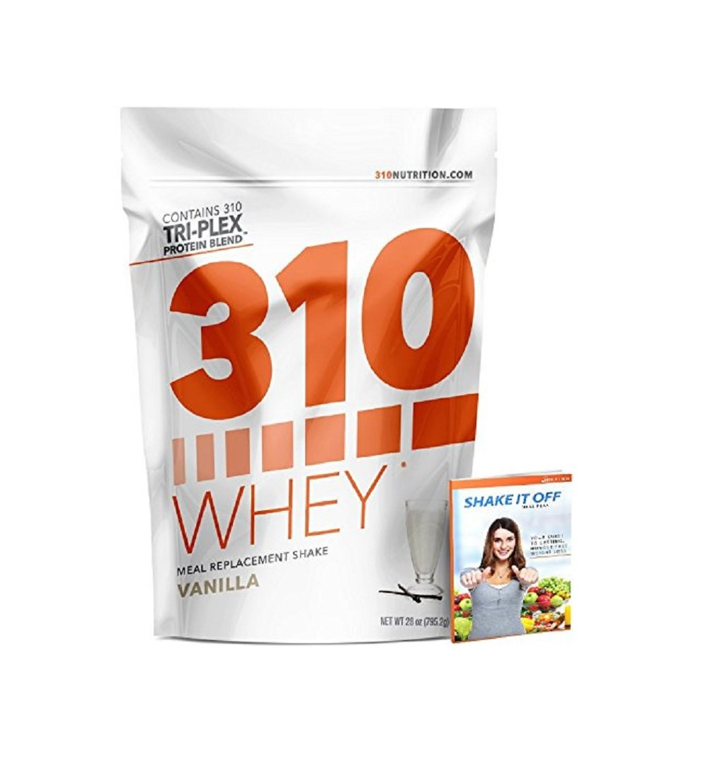 Vanilla Meal Replacement | 310 Shake Whey Protein Powder is Gluten Free, Soy Protein Free and Sugar Free | Includes Free Recipe eBook | 28 Servings