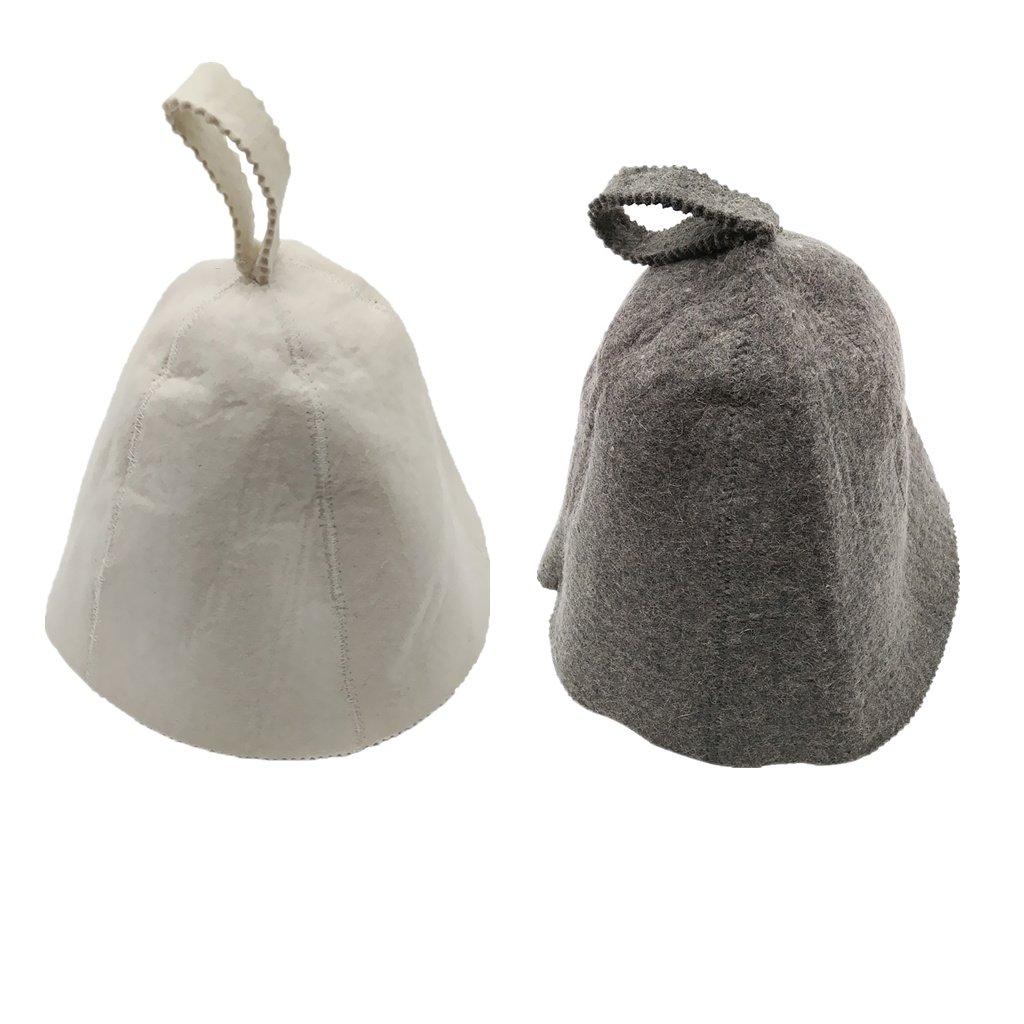 FLAMEER 2 Pezzi Cappello Lana Utensili Protettivi Testa da Acqua Bagno Adatto Nuotare Spa Bianco Nero