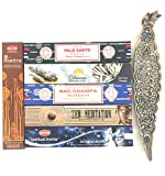 Holiday Gift set of 6 Palo Santo White Sage Nag champa Zen Meditation Mystical Nights Mantra( Incense Holder Included)