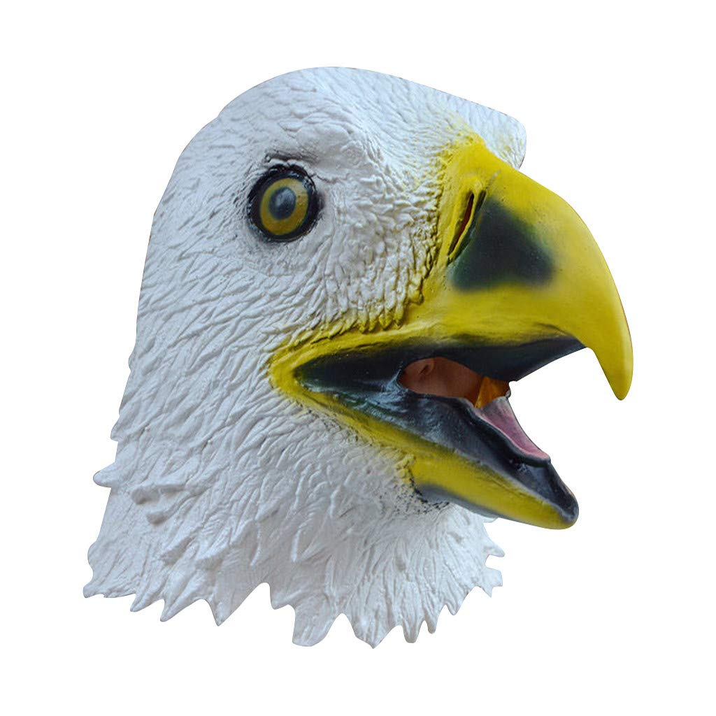 ❤️Byedog❤Eagle Style Mask Melting Face Adult Latex Costume Halloween Scary Mask by Byedog_❤️Furnitures