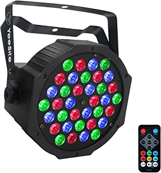 Led Par Lights Yeesite 36w 36leds Rgb 3 In 1 Par Can By Remote And Dmx Control For Church Wedding Stage Lighting Christmas Party