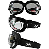Retro Joe Red Baron Style CLEAR LENS Motorcycle