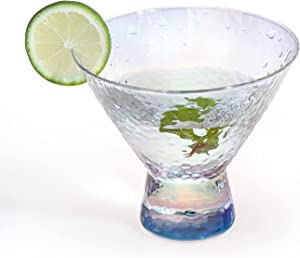 Martini Glasses, Stemless Insulating Cocktail Glasses, Elegant Cocktail Cups, Great for Martini, Cocktail, Whiskey, Liquor, Margarita, & Other Alcoholic Beverages, 8-Ounce,1 Piece (Colorful)