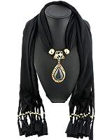 Sunward Womens Elephant Water Drop Owl Heart Pendant Tassel Charm Jewelry Scarf